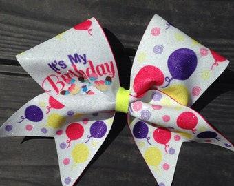 Birthday girl 3 inch ribbon bow. **Free shipping on this item!!!!!**