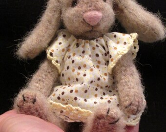 Bonnie- One of a kind Crochet artist rabbit