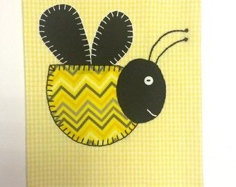 Bee Applique Tea Towel, Bee Kitchen Towel, Bumble Bee Kitchen Towel, Bumble  Bee