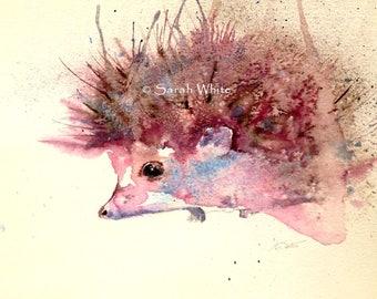 Original Watercolour Hedgehog