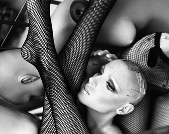 Black and White Mannequin Art Photography Mannequin Legs Edgy Photography Secret Society No17