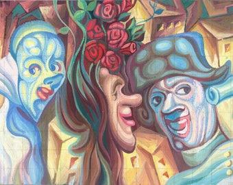 Expressionist art. Original painting. Gouache on paper. 27 x 20 cm.