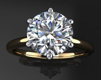 naomi ring - 2 carat NEO moissanite engagement ring, 6 prong ring