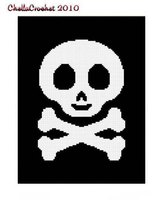 Instant Download Chella Crochet Baby Skull And Crossbones
