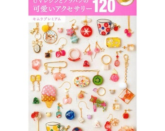 UV-Resin Accessories Book - Kawaii UV Resin Accessories in Shrink Plastic 120 Japanese Craft Book