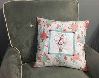 Custom Pillow Cover with Hand Embroidery