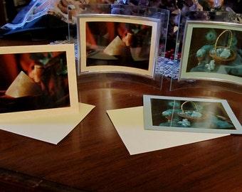 Healing Crystals Meditation Photo Art Cards -Rose Quartz,/Malachite,Chrysocolla Crystal note Cards ,Meditation Metaphysical Cards