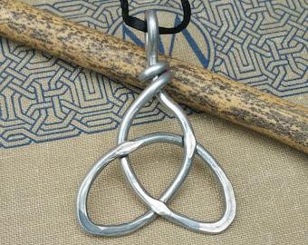 Big Celtic Trinity Knot Pendant, Aluminum Celtic Necklace, Large Celtic Jewelry, Light Weight Celtic Knot Necklace, Celtic Knot Jewelry
