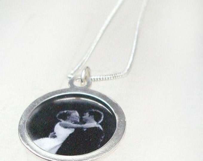 Wedding Day or custom image pendant with your own photo