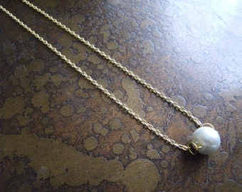 Beloved Pearl Gold Plated Chain necklace