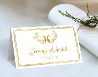 Wedding Place Cards Printable, DIY Wedding Place Card, Indian Wedding Place Card Template, Hindu Wedding Place Card, Instant Download