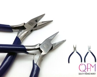 Chain nose pliers Professionally Prepped for Jewelry Making and Beading Sizes: 3.1x4.3inches, 3.5x5.1inches- Dixet - Made in Germany - 1pc