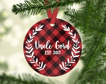 New Uncle Gift Uncle Pregnancy Announcement Christmas Gift for Brother Uncle Pregnancy Reveal Christmas Tree Ornaments Uncle Ornaments