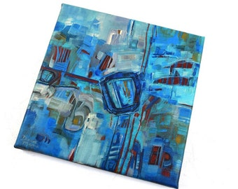 Original Abstract Painting, Acrylic Painting, Painting by Dana Marie, FREE Shipping, Painting, Contemporary art, Art, Blue