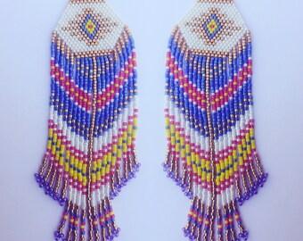 Golden Sway Boho Beaded  Fringe Earrings