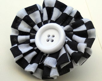 Racer Girl Adjustable Fabric Flower Ring