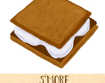 s mores clip art etsy rh etsy com smore clipart free cute s'more clipart