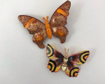 Vintage 1970 Butterfly Brooches German other Czech
