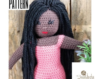 Crochet Doll PATTERN | Goddess Doll Crochet Pattern | Amigurumi Doll Crochet Pattern | Crochet Stuffed Doll Pattern | PDF Digital Download