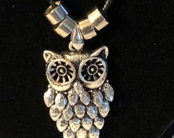 Silver - Owl - Necklace