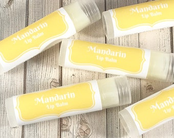 Mandarin Lip Balm | Lip Gloss | Citrus Lip Balm | Beeswax Lip Balm | Organic Lip Balm | Mandarin Lip Butter | Mandarin Chapstick |