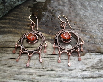 Unique boho style earrings