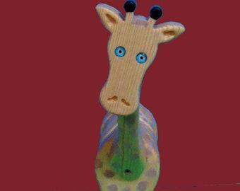 Giraffe Bank Handmade Wooden Bank