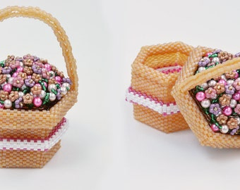 Flower Basket Beaded Box Tutorial