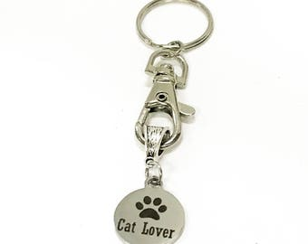 Cat Lover Keychain Gift, Cat Lover Gift, I Love My Cats, Cat Mom Valentine Gift, Cat Mama Gift, New Cat Mom Gift For Her, Cat Lady Gift