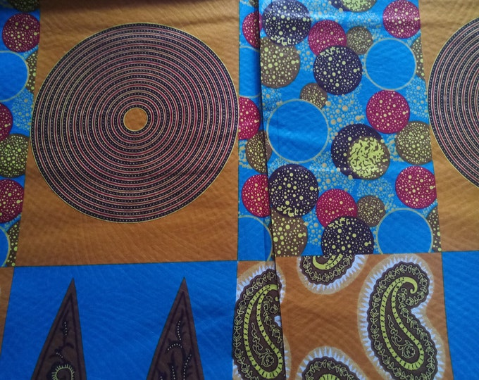 African Java Print Fabrics For Craft Making Dresses Shirts  skirts /Sewing Fabric /Kitenge Pagnes Chitenge/ Cotton Fabrics/Lapa Sold By Yard