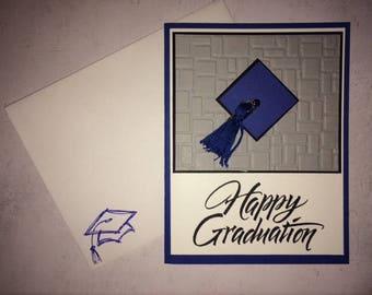 Graduation card, happy graduation card, school color graduation card, graduation card in school colors