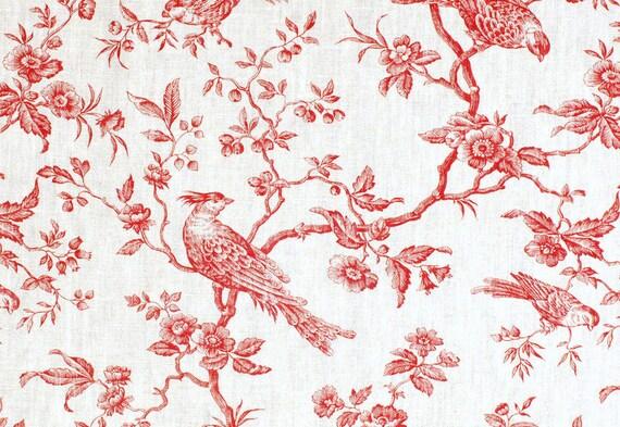 placemat laminated toile de jouy motif red 3. Black Bedroom Furniture Sets. Home Design Ideas