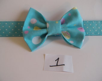 Removable Holiday Dog Collar Bow Tie - Easter