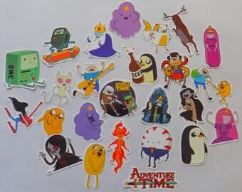 25 pcs Adventure Time Stickers!