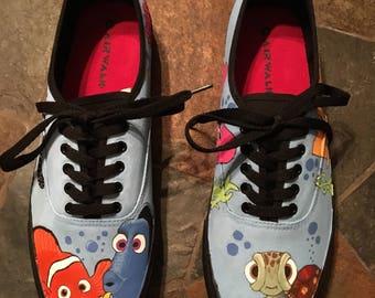 Custom made Finding Nemo shoes
