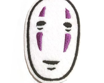 Spirited Away No Face Studio Ghibli embroidered iron on patch
