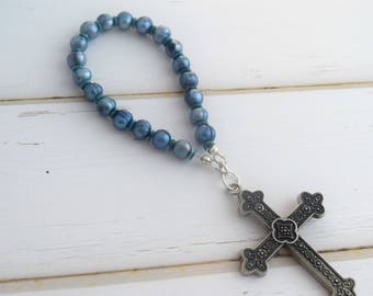 Prayer Beads | Meditation Beads, First Communion Gift, Prayer Devotional, Meditation Cross, Gift-For-Mom, Baptism Gift, Bridesmaid Gift
