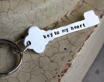 Keychain -- Key to my heart