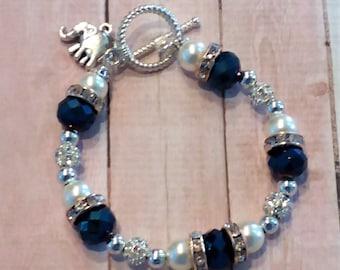 Elephant Charm-Shine Baby Shine Toggle/Stretch Bracelet
