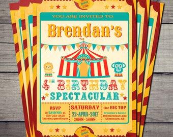 Circus/Carnival Birthday Party Invitation