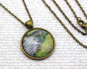 Eeyore, Winnie the Pooh, Classic Pooh Bear Illustraion Necklace or Keychain, Keyring