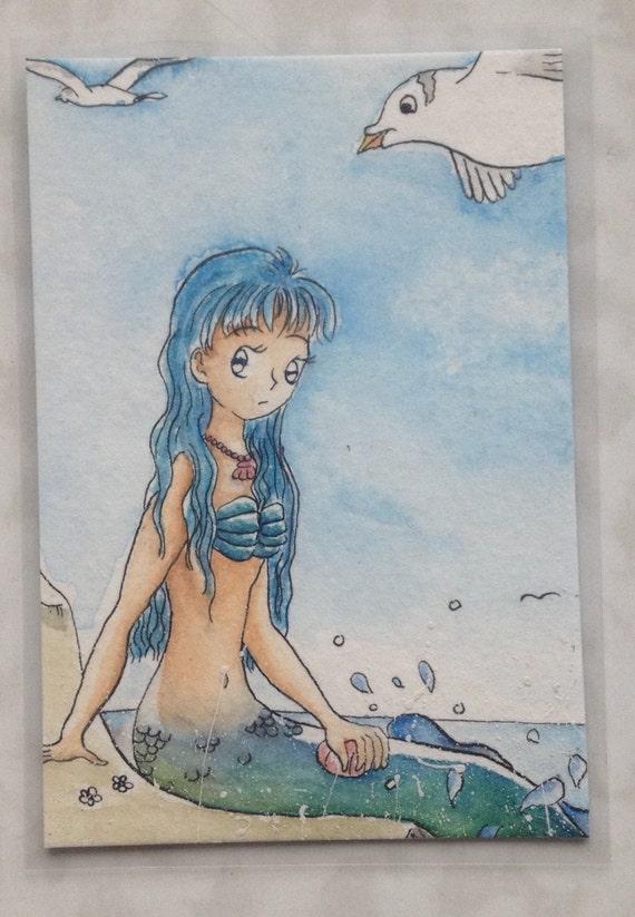 Rei - blaue Meerjungfrau