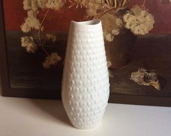 Vintage art op allemand blanc porcelaine vase coeur décor par Arzberg Schumann Bavaria
