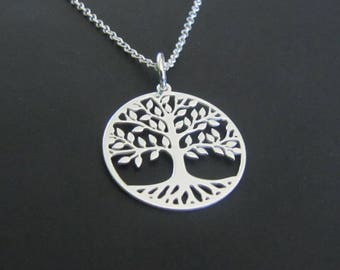 Tree of Life Necklace, Tree Necklace, Sterling Silver Necklace, Pendant Necklace, Jewelry, Gift for her