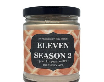 DISCOUNT, Eleven Candle, Pumpkin Pecan Waffle, Eleven Season 2, Scented Candle, Candle, Soy Candle, Halloween Candle, Fall Candle, Soy