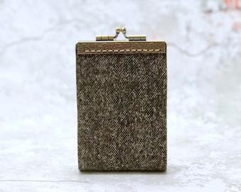 Wool Look Card Holder Wallet, Business Card Holder, Credit Card Holder, Fabric Card Wallet, Credit Card Organizer, Credit Card Case
