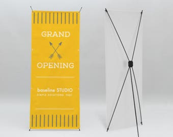 Custom X Banner Stand Includes Both Free Graphics