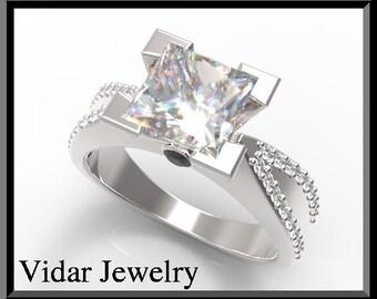 Princess Cut Diamond Engagement Ring,Unique Engagement Ring,Engagement Ring,Custom Engagement Ring,1.25 Carat Diamond Ring,Princess Cut Ring