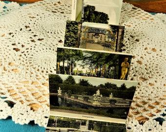 Hannover Vintage Mini Postcards Book, Hannover Sightseeing, Germany Souvenir Postcards
