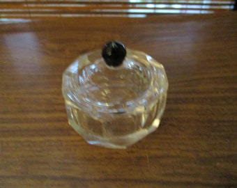 Round Clear Glass Trinket Box